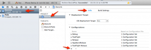 Create a new build configuration named TestFlight