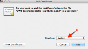 Import the Distribution Cert